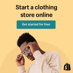 Shopify online clothing store